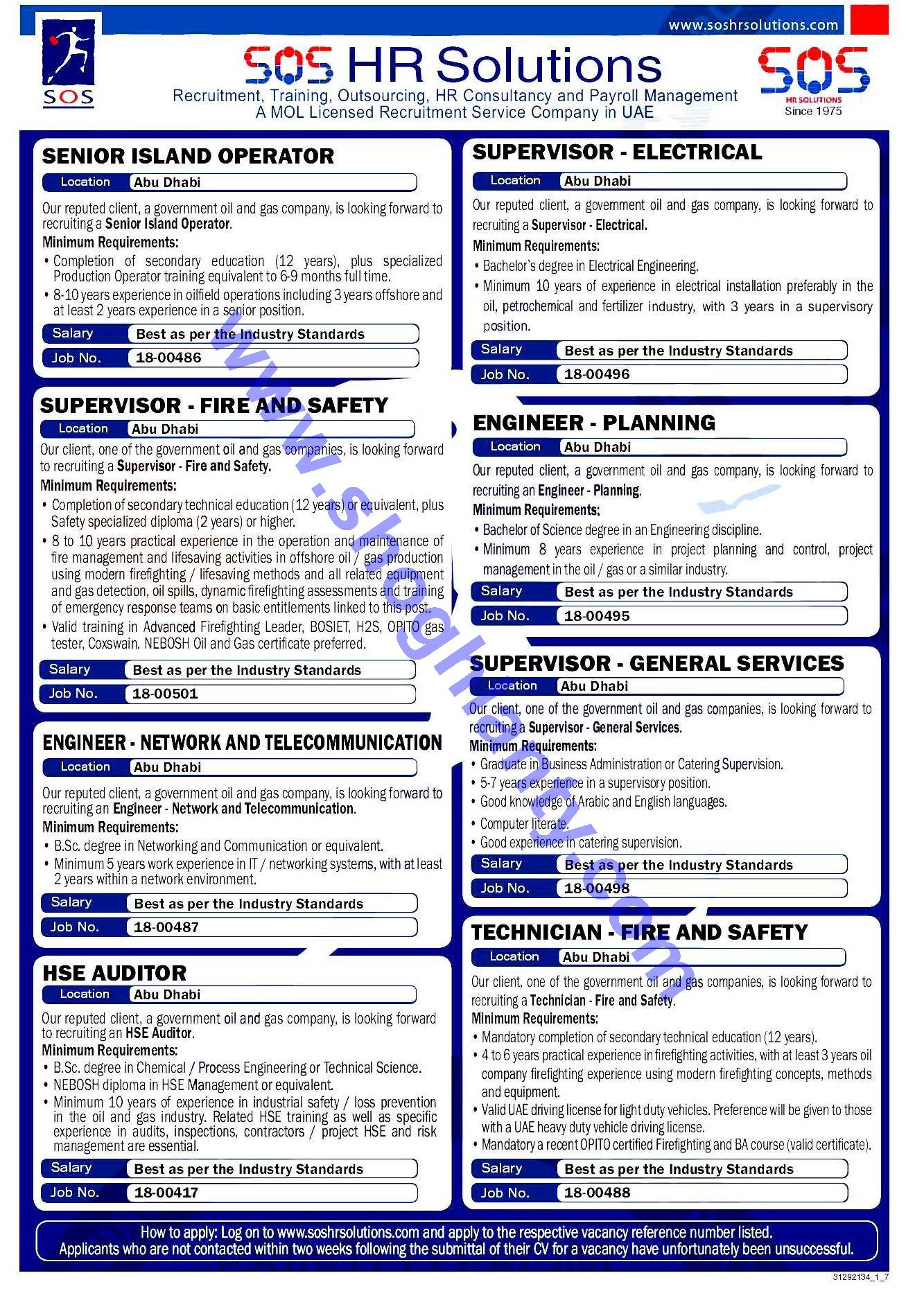 Oil And Gas Jobs In Uae For Freshers