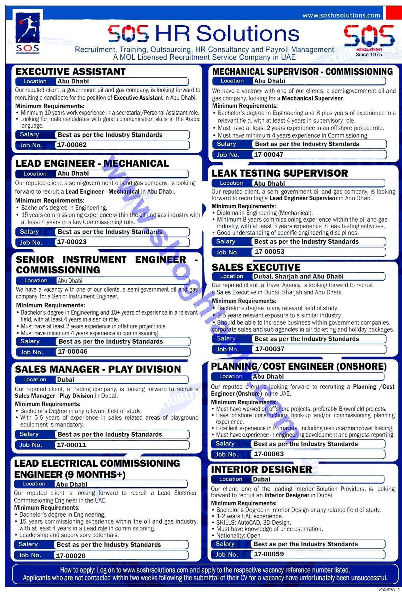 Jobs Interior Designer Sos Hr Solutions United Arab Emirates U