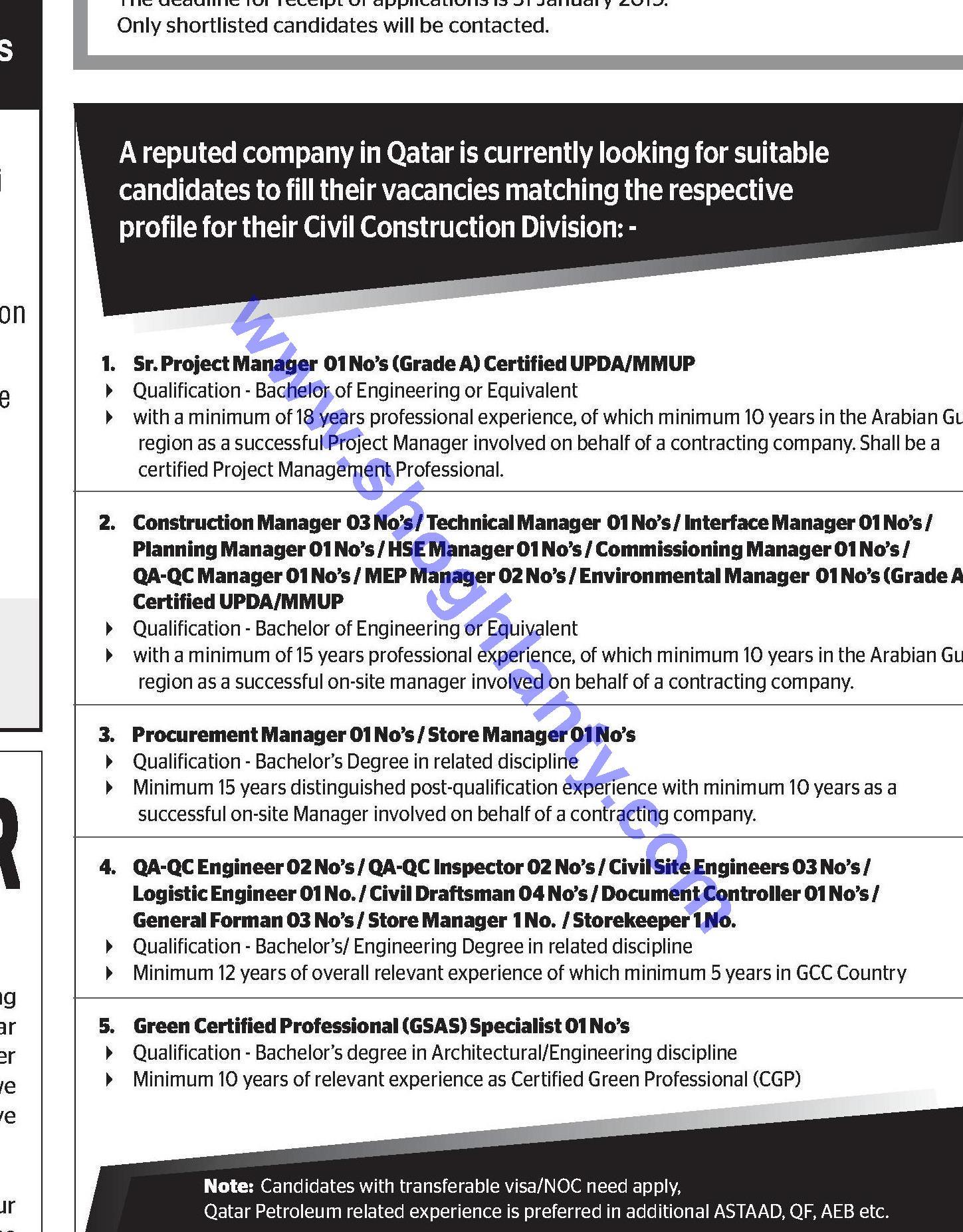 Jobs Purchasing manager-Qatar- 20 January 2019