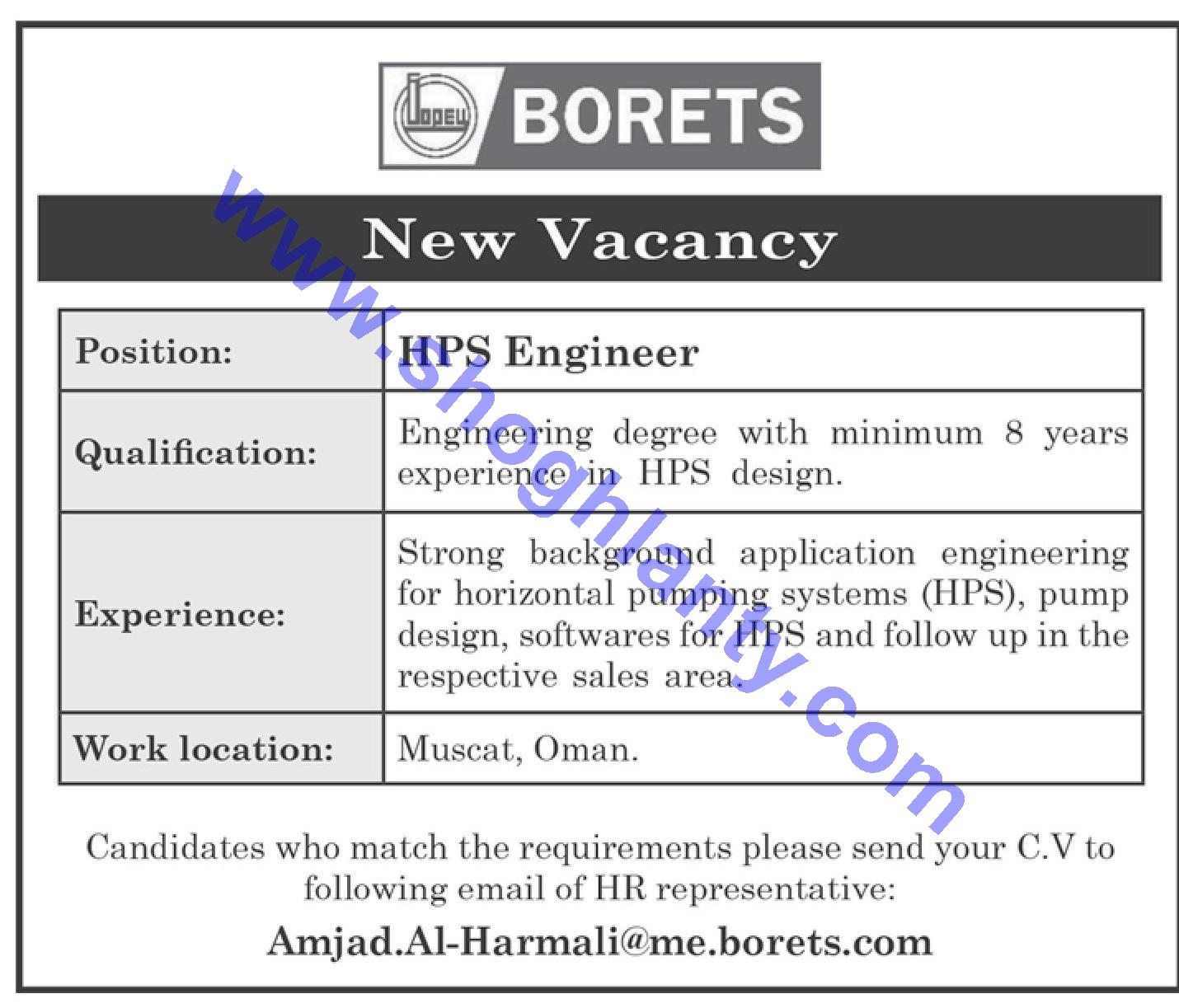 Jobs Engineers-Oman- Muscat 11 June 2019
